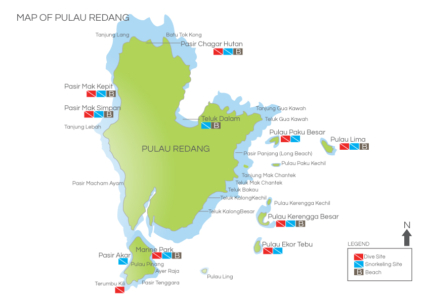 Redang island map